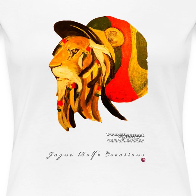 (EXCLUSIVE to FSS) Jayne Rolfe Creations - Dred Lion 3 Women's Premium T-Shirt