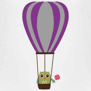 OWL in a hot-air balloon Shirts - Kids' Premium T-Shirt