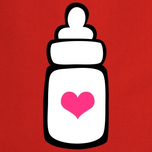 Milk bottle with a heart  Aprons - Cooking Apron