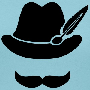 Cool Moustache (Hat) Oktoberfest Smiley - Outfit T-shirts - Vrouwen T-shirt met U-hals