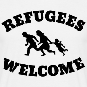 Refugees Welcome Tee shirts - T-shirt Homme