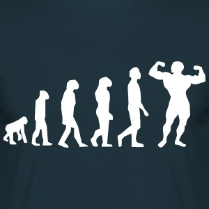 Evolution Body Building - Mannen T-shirt