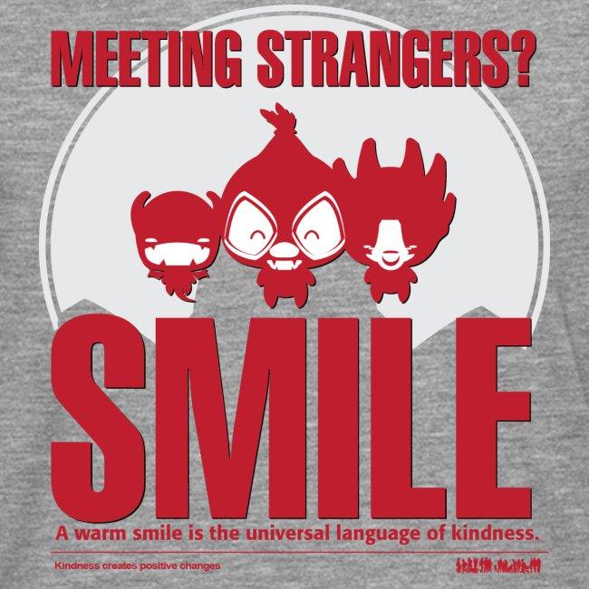 Meeting strangers & democracy Mens langærmet tshirt