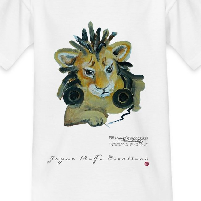 (EXCLUSIVE to FSS) Jayne Rolfe Creations - Dred Lion Cub 1 - Kids' T-Shirt