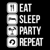 eat sleep party repeat T-Shirts - Men's Premium T-Shirt