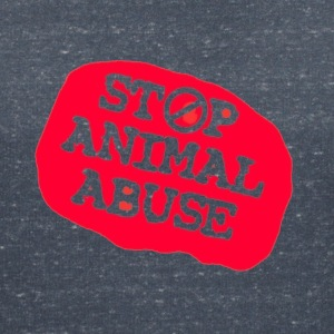 stop animal abuse T-Shirts - Women's V-Neck T-Shirt