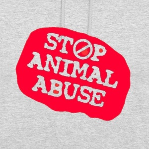 stop animal abuse Hoodies & Sweatshirts - Unisex Hoodie