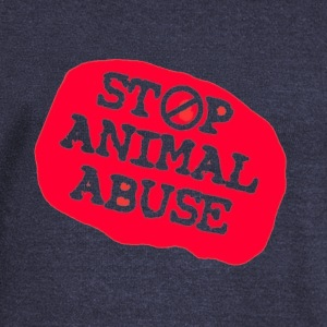 stop animal abuse Hoodies & Sweatshirts - Women's Boat Neck Long Sleeve Top