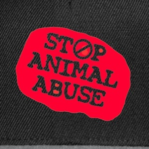 stop animal abuse Caps & Hats - Snapback Cap