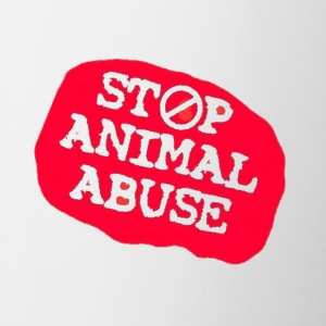 stop animal abuse Mugs & Drinkware - Mug