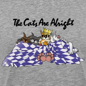 The Cats Are Alright - Bright Shirts T-Shirts - Männer Premium T-Shirt
