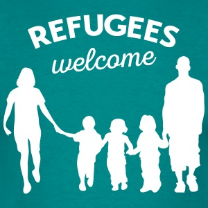 Refugees welcome T-shirts - T-shirt herr