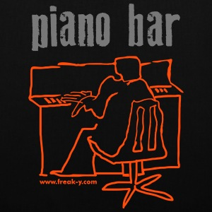 piano bar - Stoffbeutel