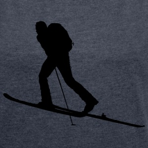 Ski-Tourengeher T-Shirts - Women's T-shirt with rolled up sleeves