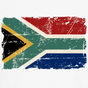 South Africa Flag - Vintage Look T-Shirts - Männer Kontrast-T-Shirt
