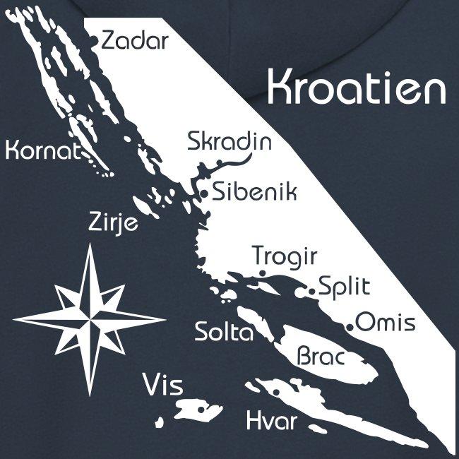 Kapuzenjacke Segeln in Kroatien