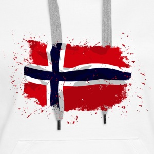 Norway Flag - Vintage Look Pullover & Hoodies - Frauen Premium Hoodie