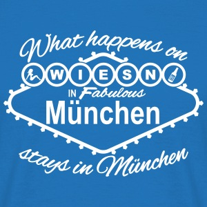 what happens on Wiesn in München stays Vegas T-Shirts - Männer T-Shirt