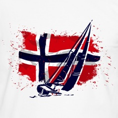 Maritime Sailing - Norway Flag - Vintage Look T-Shirts
