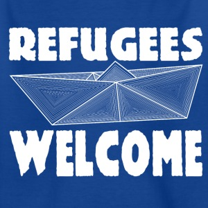 Refugees welcome kids shirt - Kids' T-Shirt