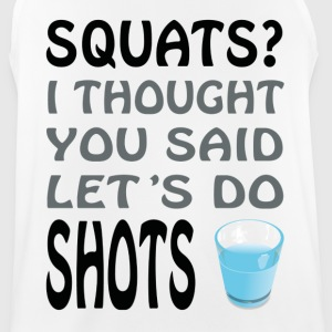 Squats or Shots - Männer Tank Top atmungsaktiv