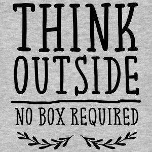 Think Outside - No Box Required T-Shirts - Men's Organic T-shirt