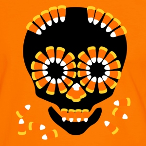 Skull Candy Corn HallOWeen by patjila T-Shirts - Men's Ringer Shirt