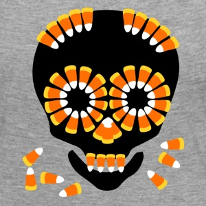 Skull Candy Corn HallOWeen by patjila Long Sleeve Shirts - Women's Premium Longsleeve Shirt
