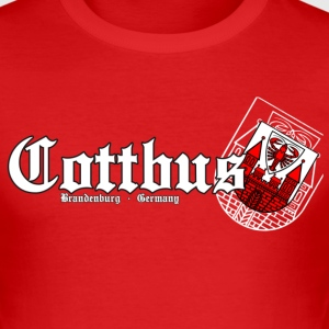 Cottbus T-Shirts - Männer Slim Fit T-Shirt