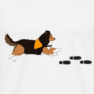 Free search Sheltie T-shirts - Herre premium T-shirt