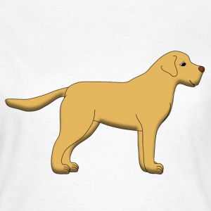 Beige Labrador page T-shirts - Dame-T-shirt