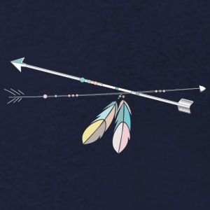 two native arrows with Feather Decoration T-Shirts - Men's V-Neck T-Shirt