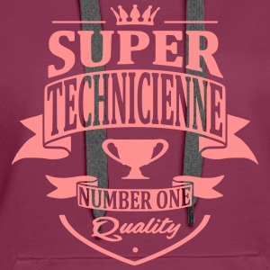 Super Technicienne Sweat-shirts - Sweat-shirt à capuche Premium pour femmes