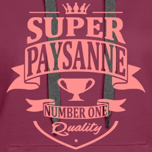 Super Paysanne Sweat-shirts - Sweat-shirt à capuche Premium pour femmes