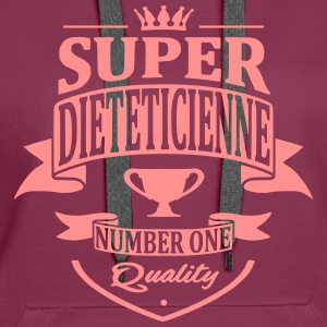 Super Diététicienne Sweat-shirts - Sweat-shirt à capuche Premium pour femmes