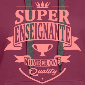 Super Enseignante Sweat-shirts - Sweat-shirt à capuche Premium pour femmes