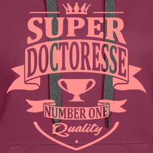 Super Doctoresse Sweat-shirts - Sweat-shirt à capuche Premium pour femmes