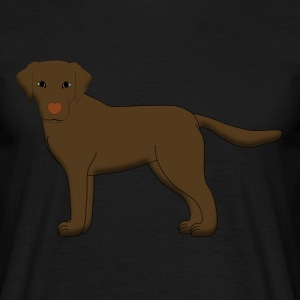 Labrador front Brown T-shirts - Herre-T-shirt