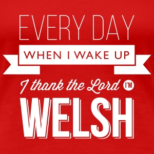 Wales rugby - Thank the Lord - Womens tshirts - Women's Premium T-Shirt