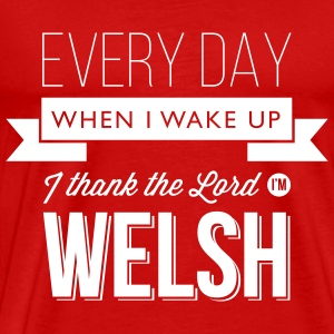 Wales rugby - Thank the Lord - Mens tshirts - Men's Premium T-Shirt