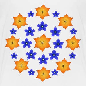 Flowers orange and blue Shirts - Kinderen Premium T-shirt