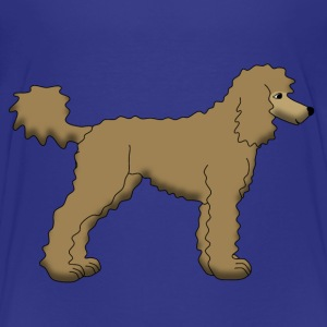 Poodle Brown Skjorter - Premium T-skjorte for barn