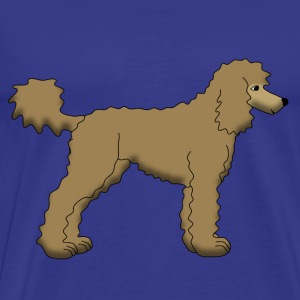 Poodle Brown T-shirts - Herre premium T-shirt