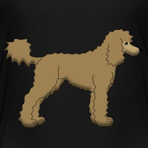 Poodle Brown Shirts - Teenage Premium T-Shirt