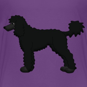 Poodle black Skjorter - Premium T-skjorte for barn