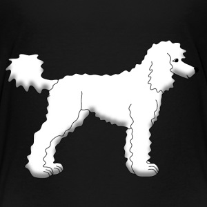 White poodle Shirts - Teenage Premium T-Shirt