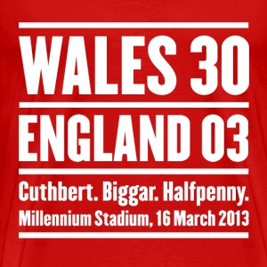 Wales rugby - Wales 30 England 3 - Mens tshirts - Men's Premium T-Shirt