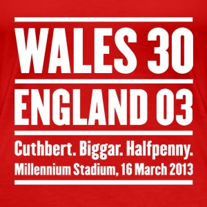 Wales rugby - Wales 30 England 3 - Womens tshirts - Women's Premium T-Shirt