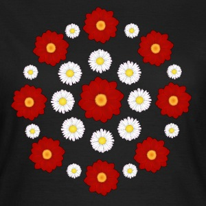 Flowers red and white T-shirts - T-shirt dam
