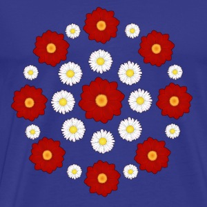 Flowers red and white T-shirts - Premium-T-shirt herr
